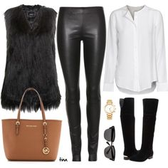 How To Wear Black Fur Vest Outfit Idea 2017 - Fashion Trends Ready To Wear