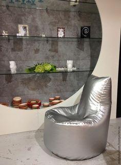 Купить Кресло мешок Авиатор стального цвета в стиле лофт - кресло мешок, кресло-мешок