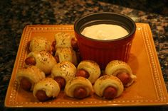 Tangy dipping sauce for pigs in a blanket