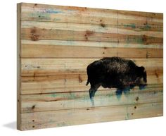 'The Buffalo Knows' by Parvez Taj Painting Print on Natural Pine Wood