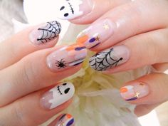 Cute Halloween Nails, Halloween Acrylic Nails, Halloween Nail Designs, Funky Nails, Love Nails, Red Nails, Cotton Candy Nails, Nail Candy, Acrylic Nail Designs Coffin