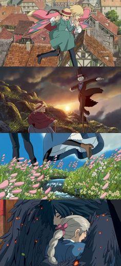 Hauru no ugoku shiro (Howl's Moving Castle) - Hayao Miyazaki M Anime, Anime Music, Anime Love, Anime Art, Anime Songs, Hayao Miyazaki, Totoro, Studio Ghibli Art, Studio Ghibli Movies