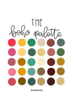 Color Schemes Colour Palettes, Colour Pallette, Color Palate, Color Combos, Good Color Combinations, Modern Color Palette, Spring Color Palette, Palette Art, Boho