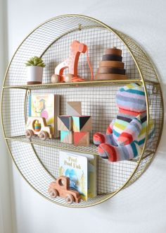 12 baskets and buckets that are perfect for storing toys and nursery supplies. From swaddles to race cars, we've got your playroom organization covered! Toy Storage Solutions, Kid Toy Storage, Lego Storage, Project Nursery, Nursery Decor, Room Decor, Nursery Ideas, Nursery Supplies, Circle Shelf