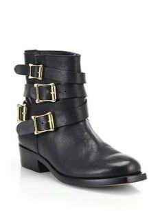 RUPERT SANDERSON Parnassus Leather Ankle Boots