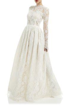 Katya Katya Shehurina Elizabeth White Lace Boho Style Wedding Dress