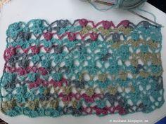 """Häkeln * Crochet """"Flower Stitch Pattern - Link zur Anleitung im Blog - Link to tutorial in blog"""