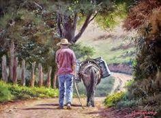 Resultado de imagen para José Rosário Castro pintor Seascape Paintings, Landscape Paintings, Champs, Country Scenes, Mexican Art, Old Art, Beautiful Paintings, Country Life, Mexico
