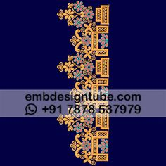 Stitches / Points 38204 Thread Colors 3 Height 132 mm Verified / Tested Yes Design Type Flat Embroidery Design Format EMB, DST Head Interval Border Embroidery Designs, Lace Embroidery, Embroidery Patterns, Art Deco Design, Lace Design, Border Design, Lace Weddings, Textile Patterns, Fashion Sketches