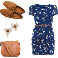 dress...plus oxfords...plus scarf and tights, for winter