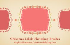 Do It Yourself - Christmas Labels (Free Photoshop Brushes set)
