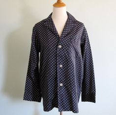 Vintage 1970s Pajamas  Halston Navy and White by BadChollaVintage, $68.00