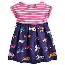 Buy Little Joule Girls' Emmie Half Horse Dress, Navy Online at johnlewis.com