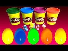 How to make Play Doh Surprise Eggs - YouTube