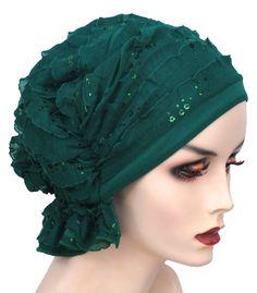 Abbey Ruffle Green Sequin #489