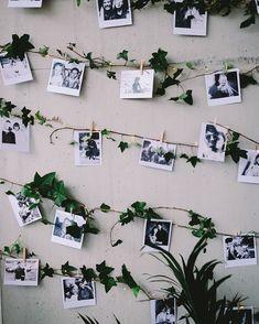 """Bryllupshjelperen on Instagram: """"Så dekorativ måte å henge opp bilder på 🤩 Kan enten være til gjestebokbilder (polaroid) eller bilder av dere som par 💖…"""" Unique Weddings, Real Weddings, Wedding Unique, Amazing Weddings, Romantic Weddings, Trendy Wedding, Wedding Details, Photowall Ideas, Decoration Photo"""