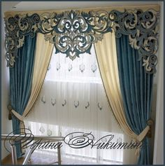 New Living Room Curtains Ideas With Blinds Valances Window Cornices Ideas Bedroom Curtains With Blinds, Luxury Curtains, Elegant Curtains, Curtains Living, Beautiful Curtains, Modern Curtains, Window Cornices, Window Coverings, Window Treatments