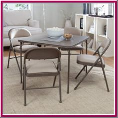 Do not hesitate to grab folding table and chairs if you are staying at small apartment or facing limited space issue.    Our kitchen room is a bit...