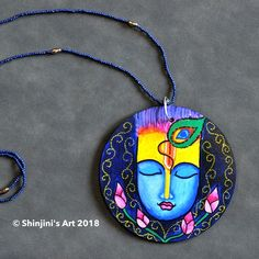Shinjini`s Art – Indian Folk Art (Madhubani, Kalamkari, Gond) Textile Jewelry, Embroidery Jewelry, Fabric Jewelry, Diy Jewelry Necklace, Jewelry Crafts, Jewelry Art, Silver Jewelry, Terracotta Jewellery Making, Terracotta Jewellery Designs
