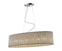 Hanglamp Prince, chroom/kristal, B 81 cm