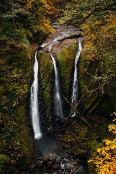 kovthephotographer:  Triple Falls, OregonThe Columbia River Gorge
