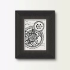 Mandala doodle spiral doodle art printable by DifferentStrokesArts