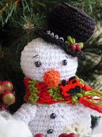 Kouzlo mého domova: Háčkovaný sněhulák Crochet Hats