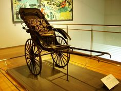 Rickshaw in the Toyota museum in Aichi Prefecture Japan