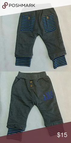 NWOT Gray cuff sweatpants Adorable sweatpants with large pockets on the back and striped cuffs.  Fleece lined soft and warm  This item is brand new and never used. Bottoms Sweatpants & Joggers