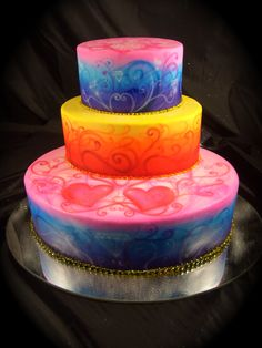 Air Brushed Camo Wedding Cakes