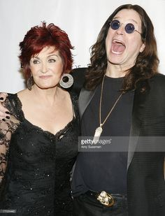 Sharon Osbourne (L) and Ozzy Osbourne (R) attend The Elton John AIDS Foundation's sixth annual benefit 'An Enduring Vision' at The Waldorf Astoria Hotel on September 25, 2007 in New York City.