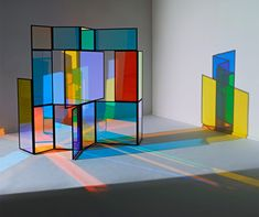 """Seen at the [D3] Design Talents section of IMM Cologne 2013, Richter's foldable divider allows """"Light and shadow, reflection, transparency, distortion, revision and colours [to] play in the object."""" Via Architonic."""