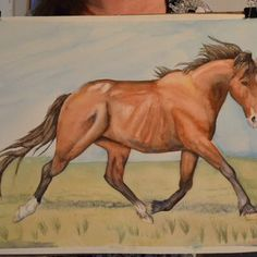 Right off the Easel. original #horse watercolor #painting. 22 inches by 17 inches unframed on museum grade paper. $165.