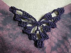 How to embellish with crochet inserts.