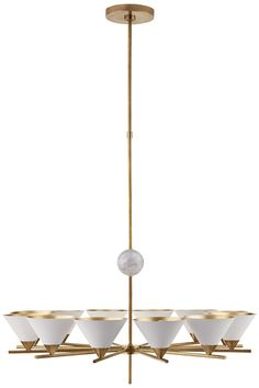 KELLY WEARSTLER | CLEO LARGE CHANDELIER. Ideal for spaces with high ceilings.