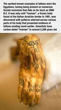 5200 year old tattoos & I'm sure that they were fashionable for 10 ' s of thousands of years before that!!!♌