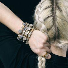 smokey quartz bracelet / smokey quartz bangle / by DANIBARBEshop Bangles, Bracelets, Bangle Bracelet, Raw Gemstone Jewelry, Raw Gemstones, Diy Schmuck, Color Ring, Smokey Quartz, Bohemian Jewelry