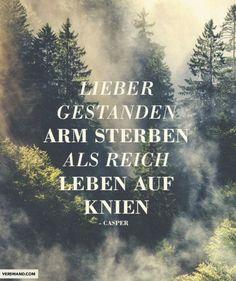 *Lieber Gestanden Arm Sterben, Als Reich Leben Auf Knien...* - Casper/Michael X