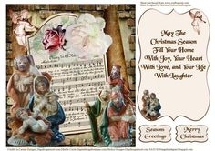 Christmas Song Music Quick Card Topper Insert on Craftsuprint - Add To Basket!