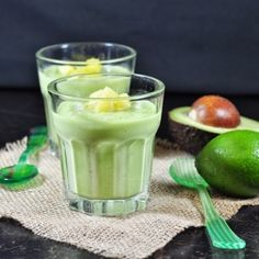 Avocado Pineapple Lime Smoothie, it is healthy diary free and delicious.