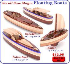 Scroll Saw Magic Floating Boats Wood Toy Plan Set