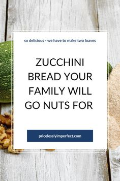 The perfect zucchini bread to make anytime of the year. Even better when the zucchini comes from your own garden. This simple zucchini bread recipe will have your family begging for me. This is why we always make two loaves of this delicious bread.