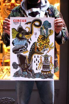 Circus Flash Set — La Cobra Negra Tattoo Art Gallery