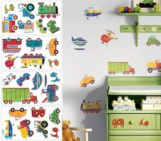 Transportation Peel and Stick Appliques - Wall Sticker Outlet