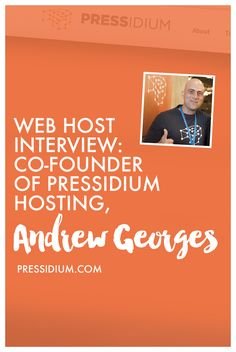 Have you heard about Pressidium hosting? Learn more about it with the co-founder, Andrew Georges!   In this post, you'll learn about:  - About Andrew, his role and how he started. - What you can know about Pressidium. An overview on Pressidium hosting services. - Their hosting plans + restrictions - Their future plans  Read it all here: http://www.webhostingsecretrevealed.net/blog/interviews/web-host-interview-co-founder-of-pressidium-hosting-andrew-georges/