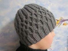 Купить Шапка вязаная для мальчика - серый, шапка, шапка вязаная, шапка для мальчика, шапка мужская