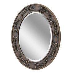 Classic Scroll Oval Antique Bronze Wall Mirror (1050)