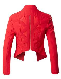 Is your wardrobe ready for coming Spring and Summer? Open front blazer is a must-have item for warm season. Cutout back and cropped style are on point. Feature - 98% Polyester / 2% Spandex - Soft and durable material for comfort / Light pad on shoulder - Cropped style / Long sleeve / Open front / Cut-out back - Hand wash cold / Do not use bleach / Hang dry / Iron low - Please be advised to see our size chart for the most accurate fit / Color Disclaimer: Monitor settings or monitor pixel…