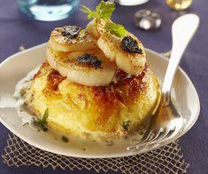 Recette rapide du flan au parmesan et saint-jacques rôties à la truffe