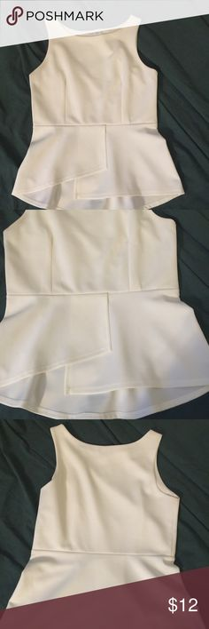 """Bisou Bisou sleeveless pull over top Top is fitted, 90% polyester 10% spandex, scoop neckline rounded bottom top length from back neckline to hem 24"""". Layer in front. Cute on. Never worn Bisou Bisou Tops Blouses"""